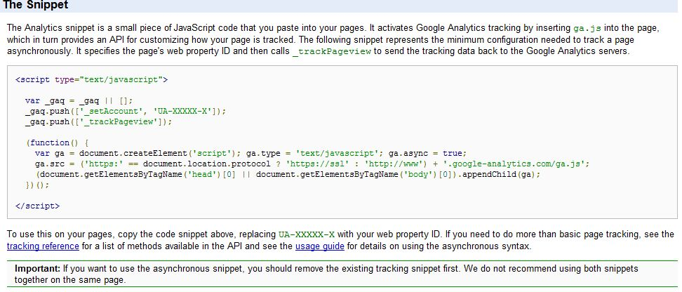 Google Analytics Asynchronous Tracking