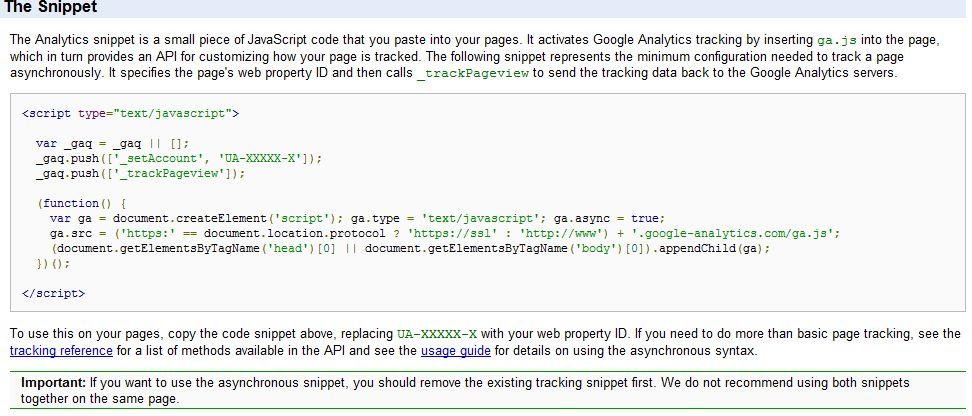 Google Analytics Asynchronous Tracking