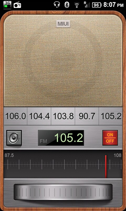 MIUI FM Radio on the Nexus One