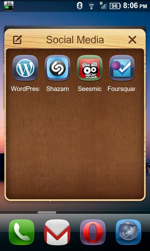 MIUI Launcher Folder
