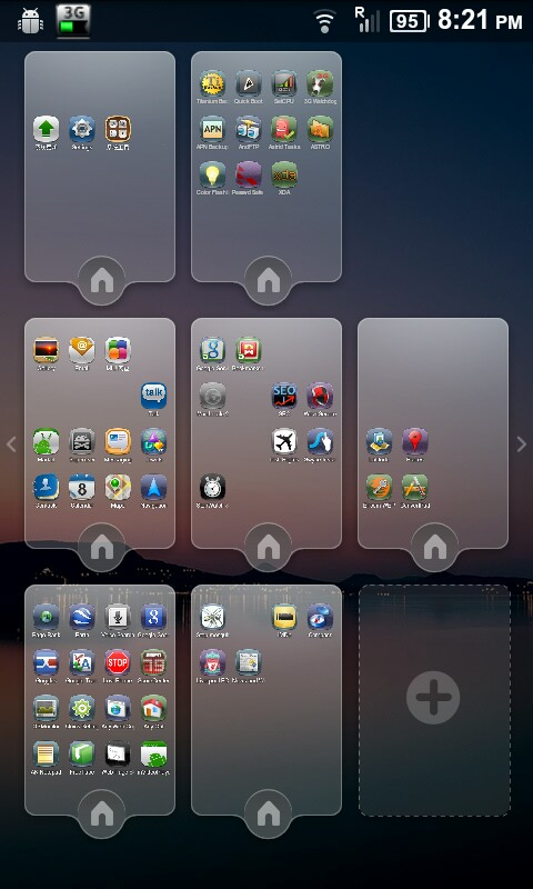 MIUI Launcher Screen Manager on the Nexus One